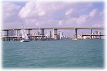 Rickenbacker bridge leading to Key                           Biscayne