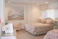 Bedroom of vacation accommodation on Key Biscayne, Florida