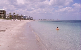 Key Biscayne's beaches are some of the                           best in the world